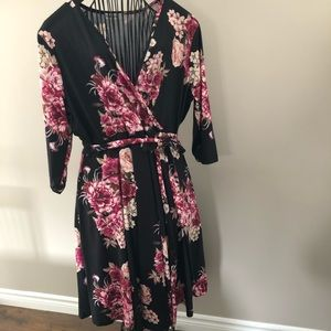 Brand New Never Worn Floral Faux Wrap Dress